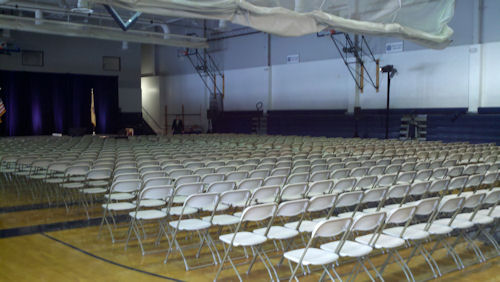 600 Chairs setup