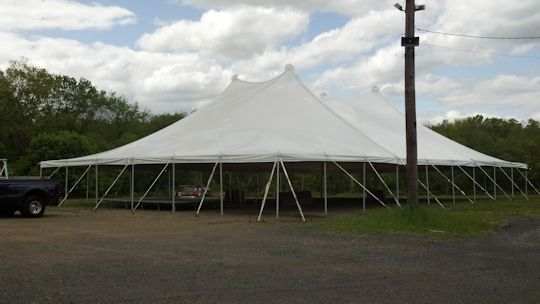 60ft x 90ft white pole tent