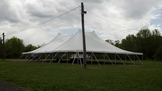 pole tent installed in berkley heights nj