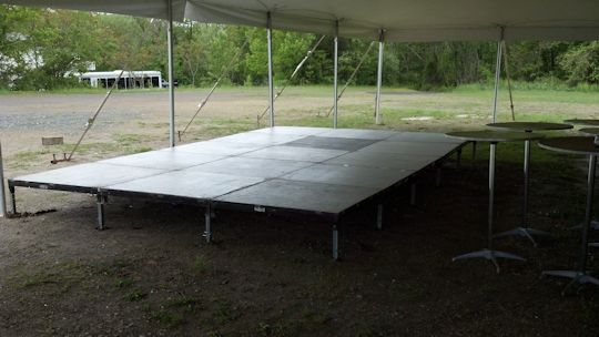 band stage installed 12ft x 20ft