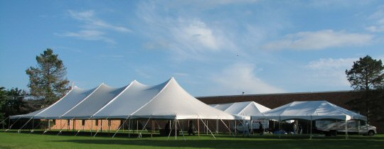 40 x 100 Pole tent with 30 x 80 Frame Tent