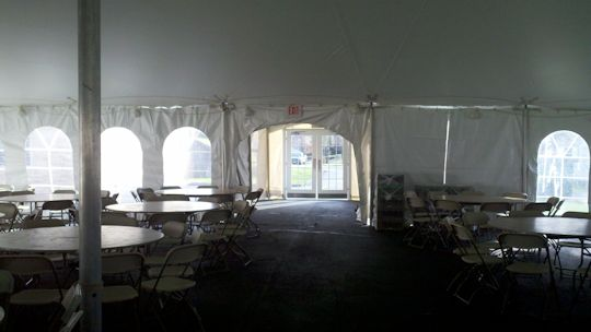 40 x 60 Frame Tent with 20 x 20 high peak frame tent