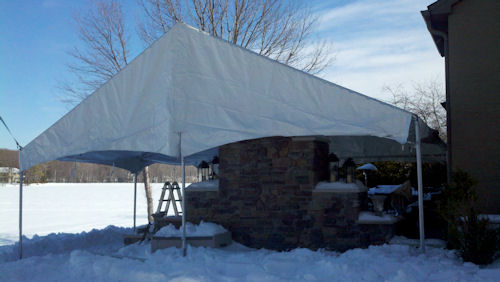 30 x 30 Frame Tent Construction