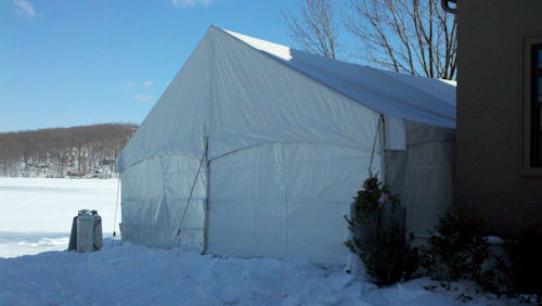 30 x 30 Frame Tent Construction with top