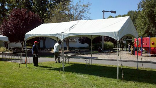 10 x 20 white toptec gable end frame tent