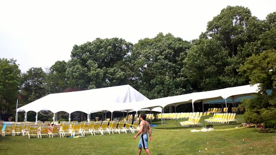 A Party Center tent after install