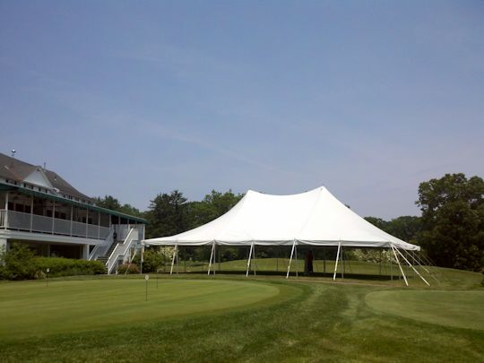 tent is up and looking great crisp white