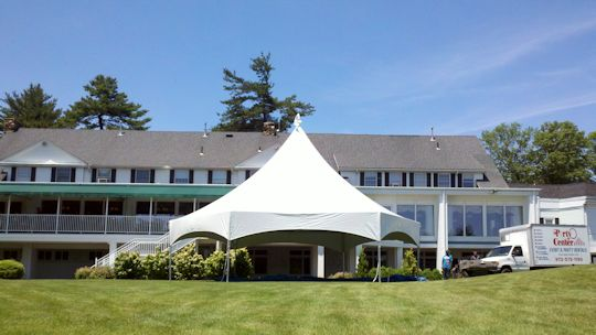 Birthday Party under 34ft Hex Tent at Essex Fells CC 2011