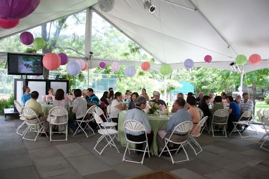 full seating and buffets under tent