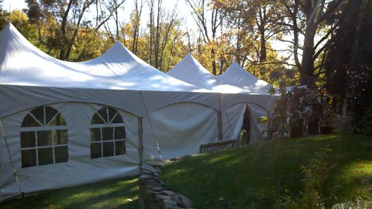 tenting installed on grass