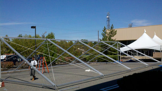 40 x 60 Future Trac Frame Tent Construction
