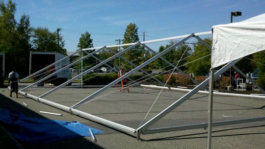 40 x 60 Future Trac Frame Tent Construction Frame