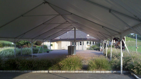 30 x 90 Future trac frame Tent Clear ends