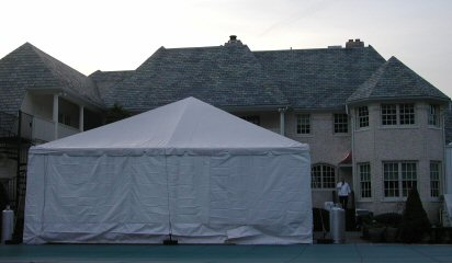 30 x 30 Frame Tent with 15' Tree Under