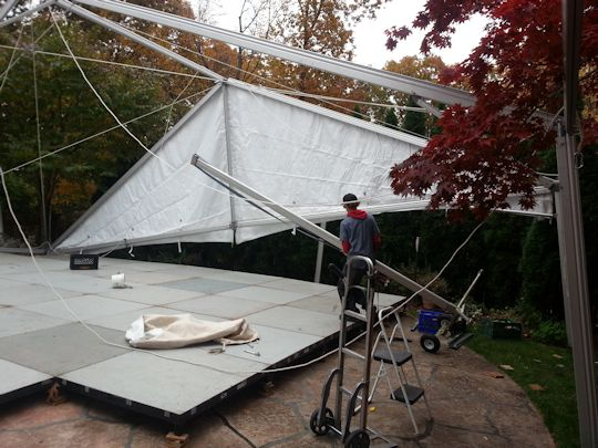 tent being raised