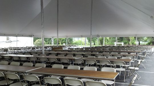 60 ft x 90 ft eureka pole tent with installed lights