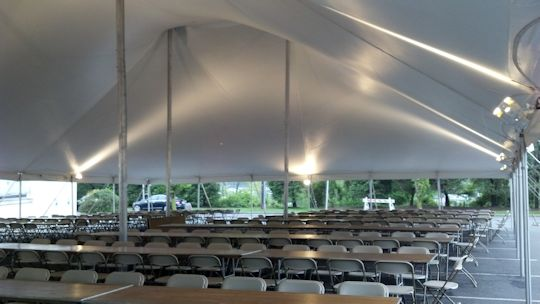 pole tent installed in Clifton nj