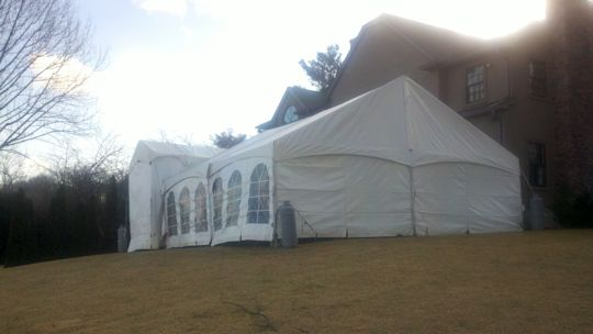 gable end top tec frame tent