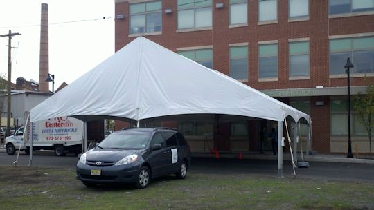 Topetec 40 wide gable end frame tent white
