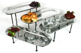 Oblong Aluminum Trays with Optional Bowls