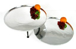 "20"" and 18"" Round Aluminum Trays with Optional Stands"
