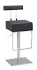 Black Modern Leather Stool
