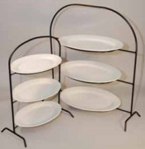 Three Tiered Cast Iron Stand with Platters