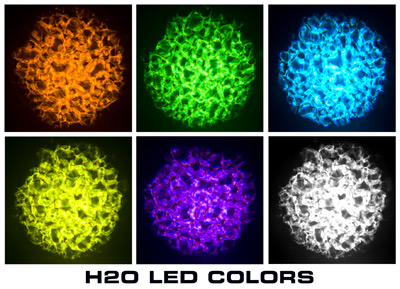 H20 water effect LED light colors