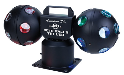 roto ball RGB tri color LED atmosphere light