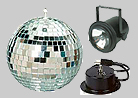 Mirror Ball w/ motor & pinspot
