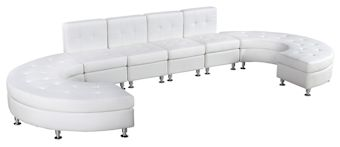 Ottoman White with Chrome