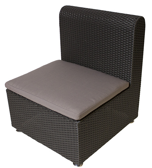 Outdoor Woven Armless Chair