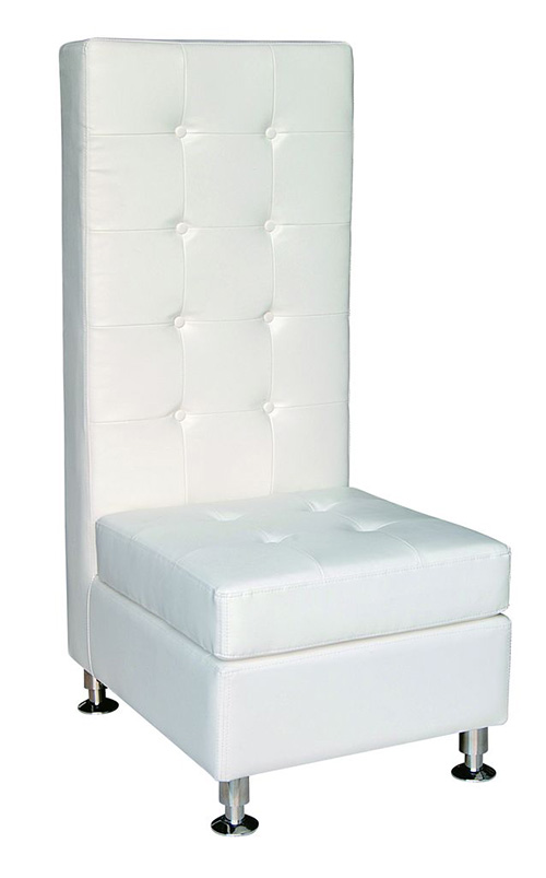 White Leather Chair (Tall)