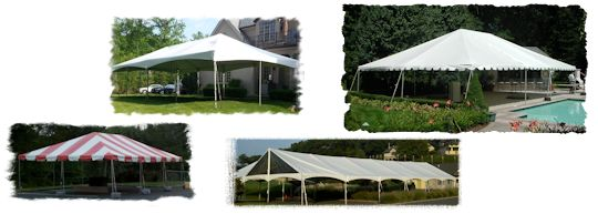 20 ft wide and 30 ft wide frame tents