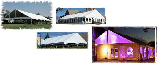 40 ft wide and 50 ft wdie gable end keder frame tents