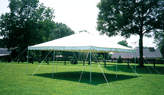 16 x 16 or 20 x 20 White Self-Install & A Party Center Self-Install Canopies