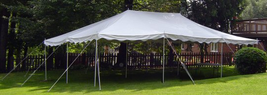 20 feet by 30 feet Needs a 32 foot by 42 foot space needed. & A Party Center Self-Install Canopies