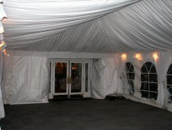 After installation of tent liner
