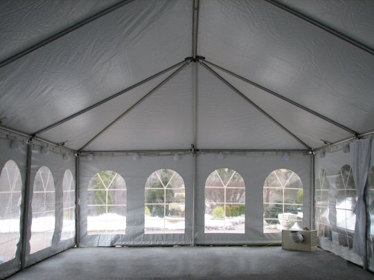 20 x 30 frame tent before liner