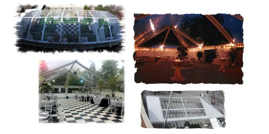 Clear top frame tents in various sizes