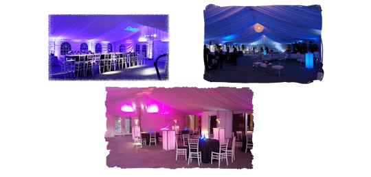 uplighting and tent liners