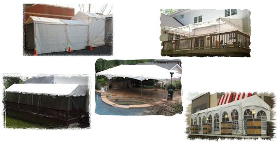 6 ft wide to 15 ft wide frame tents