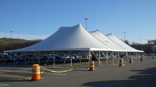 60 ft x 120 ft white eureka twin center pole tent ... & A Party Center 60 x 120 White pole tent